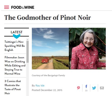 Ray Isle Food and Wine Article