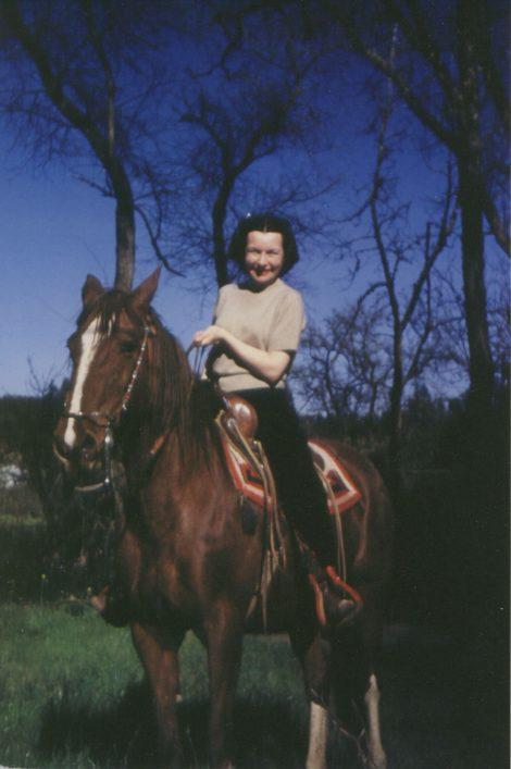 Helen on horse Peggy